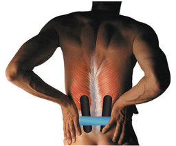 Low Back Pain Kinesio Taped